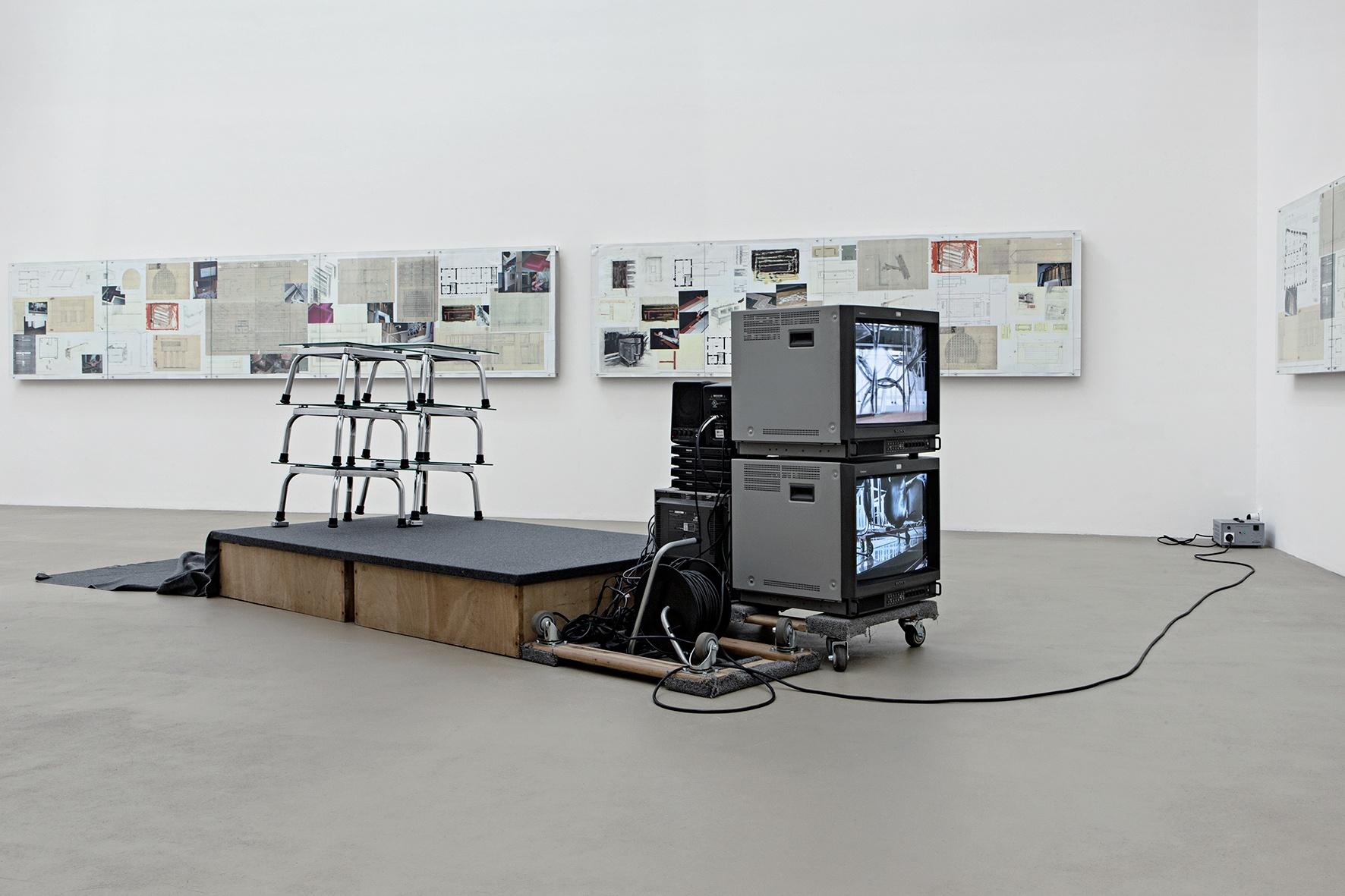 Versuchsanordnung II zu Ohne Titel (Reinhard Mucha – Die Letzten werden die Letzten sein – Nationalgalerie Berlin 1982), Für Mies van der Rohe, [2013] 2008